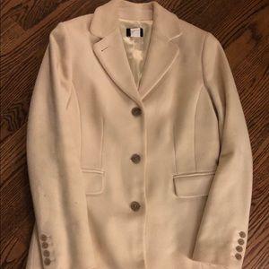 J crew ivory wool coat